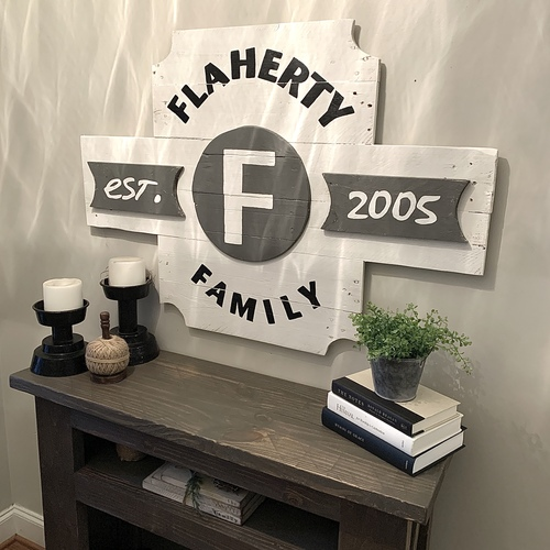 3D Custom Family Sign