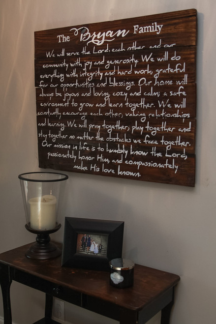 Family Mission Statement {Bryan Family Design}