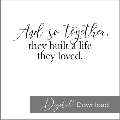 And So Together {PRINTABLE}
