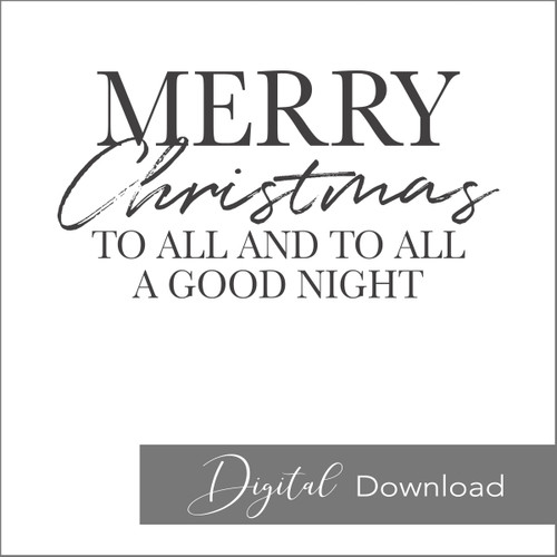 Merry Christmas to All {PRINTABLE}