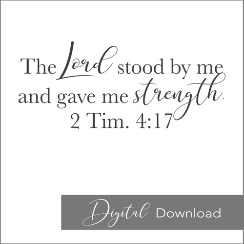 The Lord Stood by Me {PRINTABLE}
