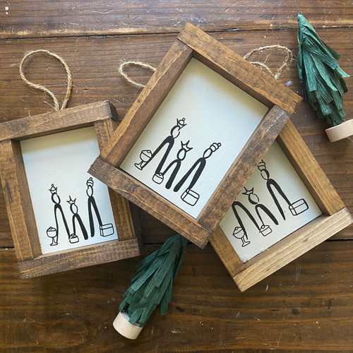 *SET of THREE* 2018 Christmas Ornament of the year {Oh Come Let Us Adore Him}