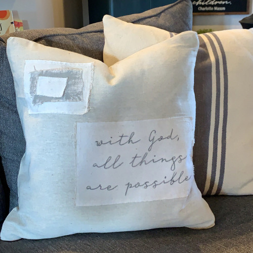 "Scripture or Short Quote Pillow Cover {18""}"