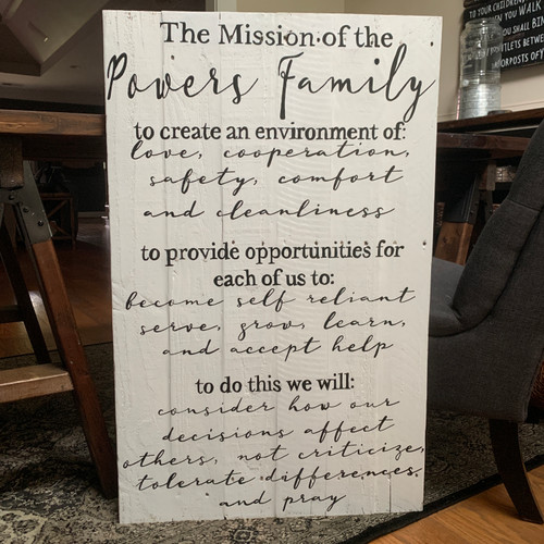 Family Mission Statement {Powers Design}