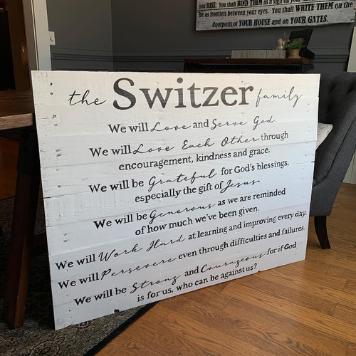Family Mission Statement {Switzer Design}