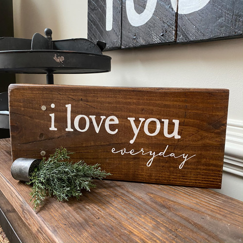 i love you everyday {stained tabletop}