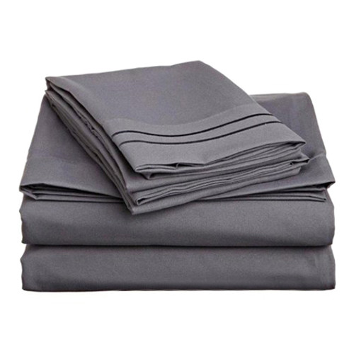 Clara Clark 8142 Twin Sheets - 1500 Collection GREY