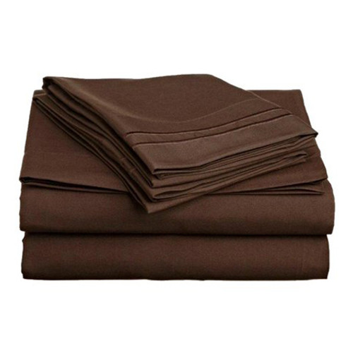 Clara Clark 8144 Twin Sheets - 1500 Collection CHOCOLATE