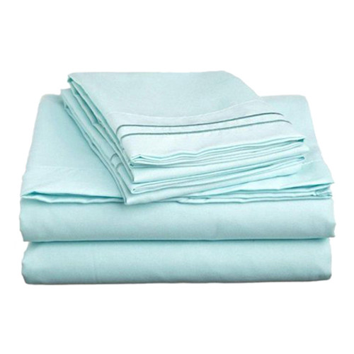 Clara Clark 8057 Queen Sheets - 1500 Collection LIGHT BLUE