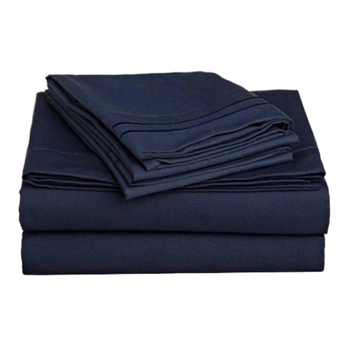 Clara Clark 8063 Queen Sheets - 1500 Collection NAVY BLUE