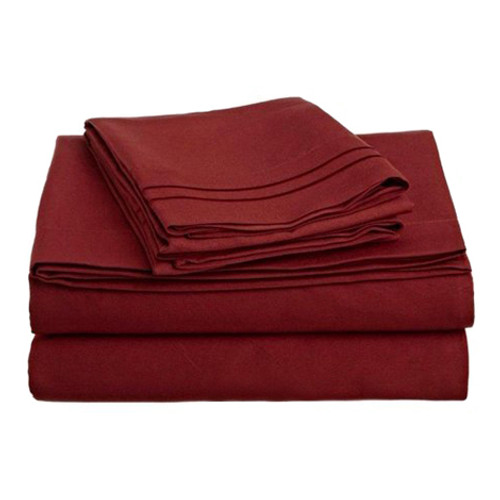 Clara Clark 8089 King Sheets - 1500 Collection BURGUNDY
