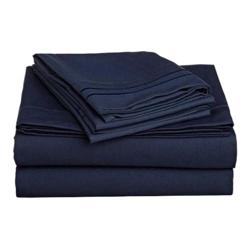 Clara Clark 8107 Cal King Sheets - 1500 Collection NAVY BLUE