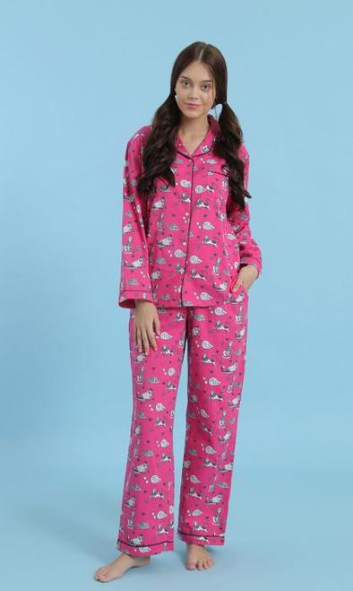 Cozy Cats 2pc Cotton Flannel PJ Set