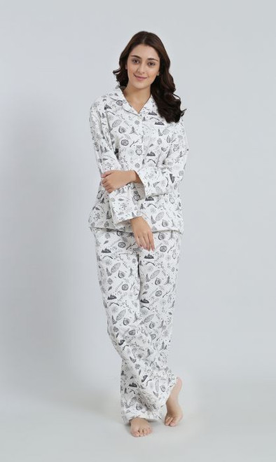 Winter Forest 2pc Cotton Flannel PJ Set