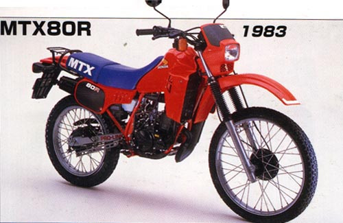 HONDA 80 MTX 1987-1990