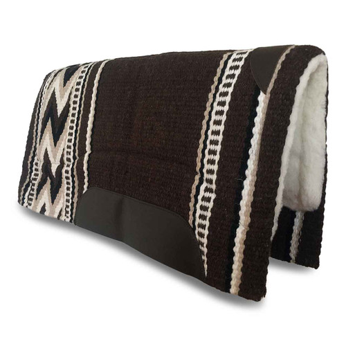 Brown New Zealand Wool Western Saddle Pad