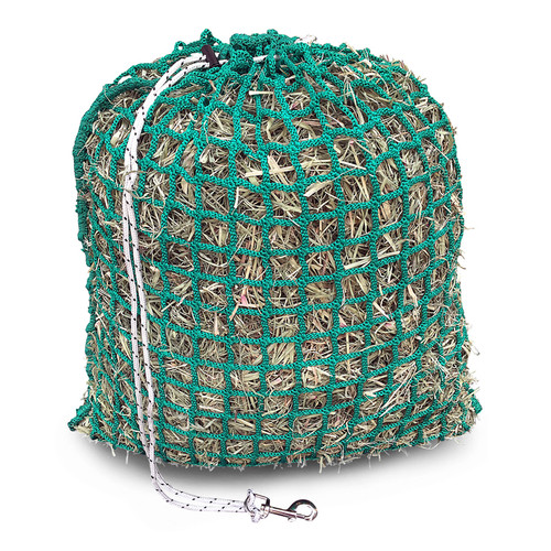 Medium Sized Slow Feeder Hay Net With Toggle Closure and Free Snap Bolt - 65cm x 55 cm