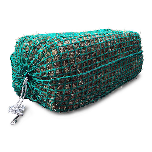 Bale Sized Slow Feed Hay Net 3.5cm Holes 135 cm x 100 cm - Side View