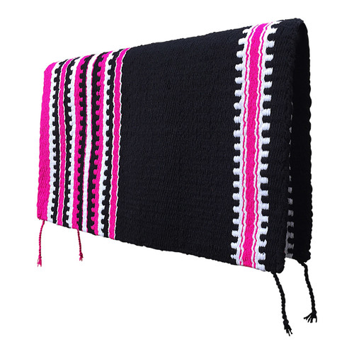 Black and Fuchsia Western Saddle Blanket - Cashmillon