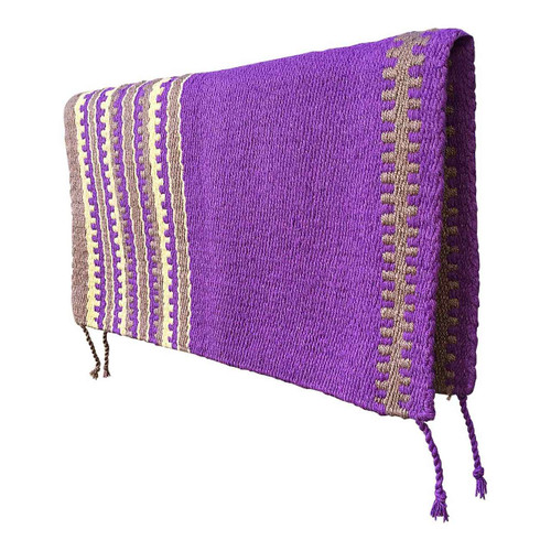 Purple and Sand Western Saddle Blanket - Front