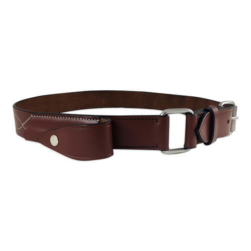 Stockman's Belt With Knife Pouch