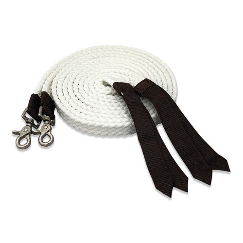 Split Cotton Reins White