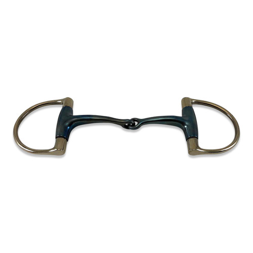 Dee Ring Blue Sweet Iron Snaffle Bit