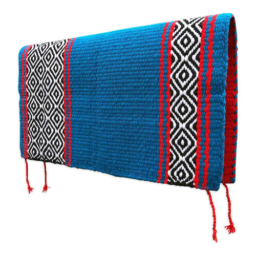 Western Saddle Blanket - Turquoise and Red