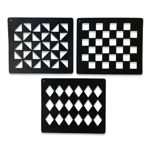 Quarter Marker Stencil Set Of 3