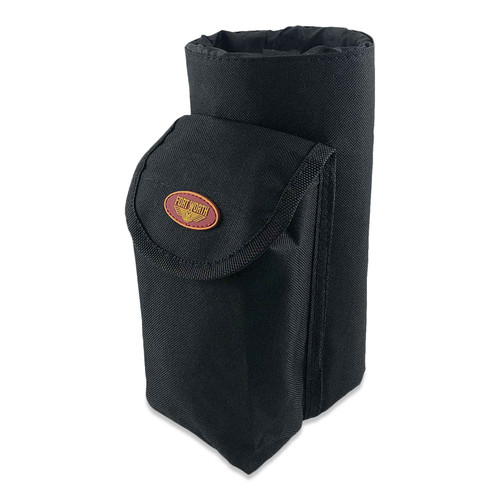 Saddle Bag Bottle Carrier With Pouch - Black