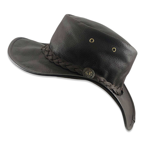 Squashy Outback Leather Hat