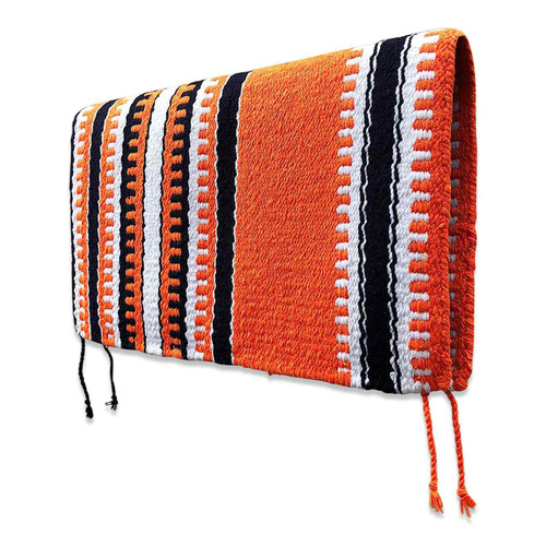 Orange Navajo Western Saddle Blanket
