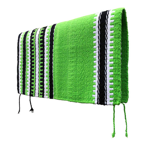 Lime Green Navajo Western Saddle Blanket