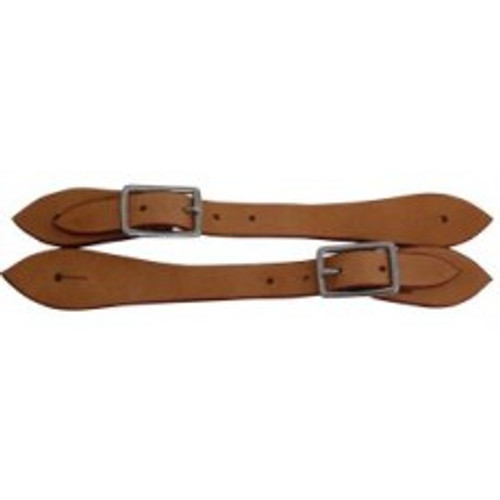 Western Spur Straps - Tan (Natural) Leather