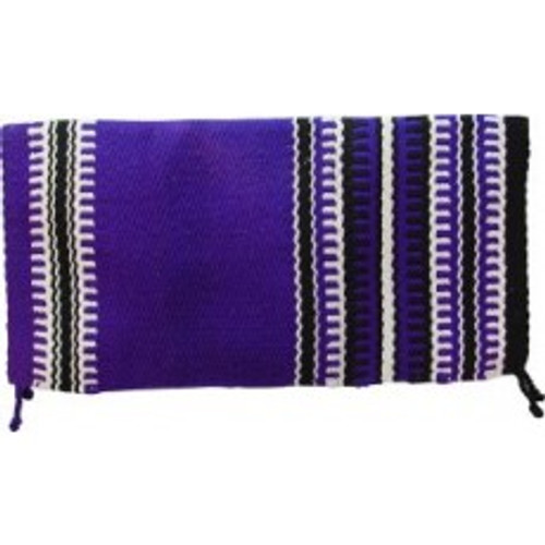 Purple, Black and White Western Saddle Blanket - Navajo Design