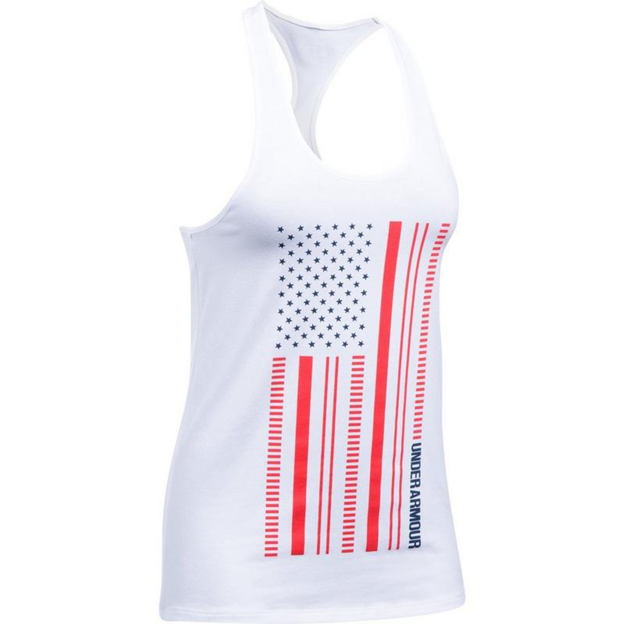 9bdaf3f5 Women's Under Armour Americana Flag Tank Top - Black Mountain Supply