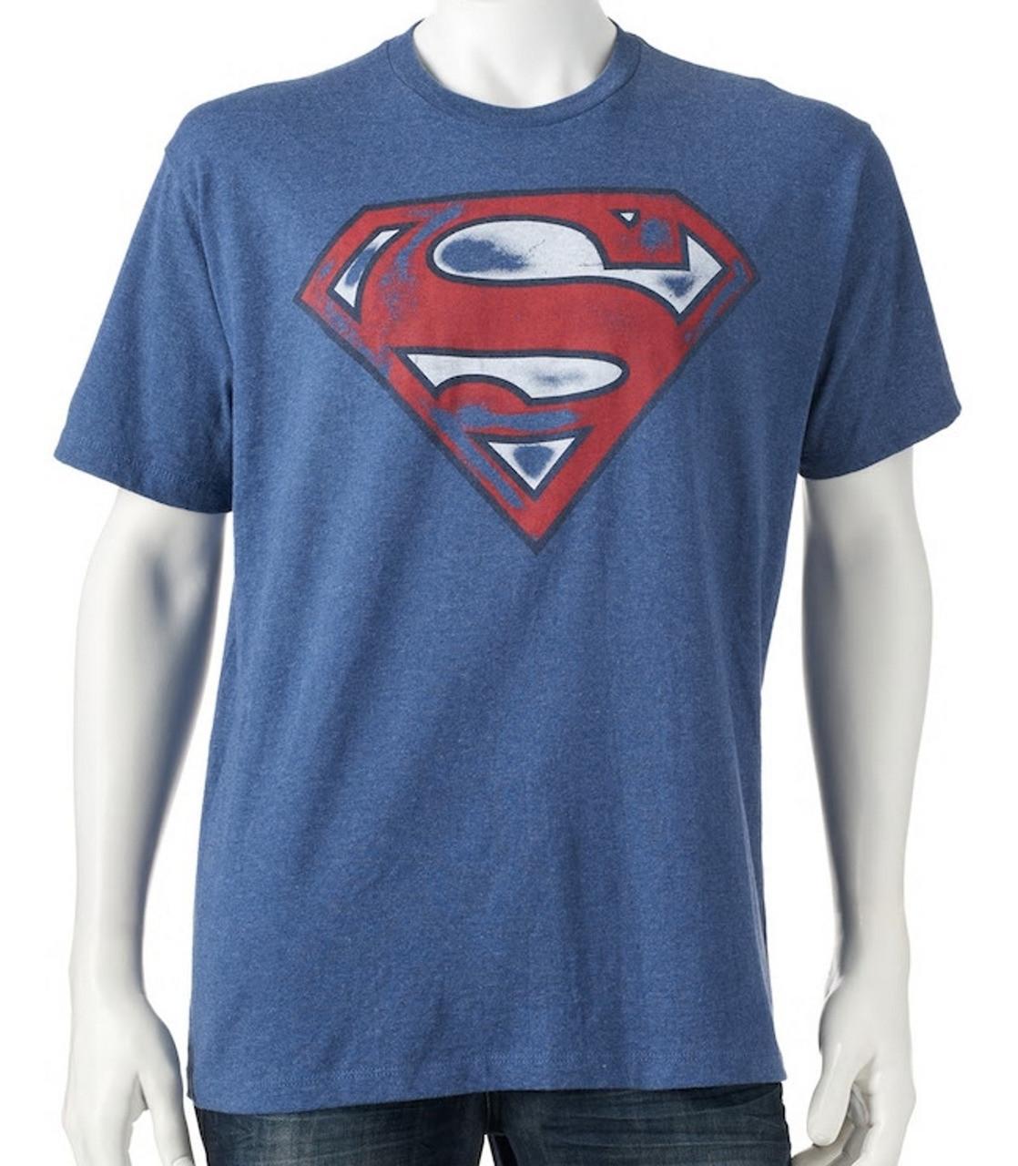 Men s DC Comics Superman Shield T-Shirt - Black Mountain Supply 54d9d52ef4