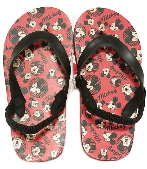 0d399a774486 Boys  Toddler Disney Mickey Mouse Flip Flop Sandals - Black Mountain ...