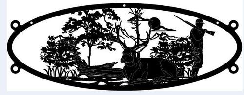 Deer & Hunter Oval