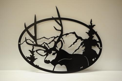 Deer Looking Back Oval