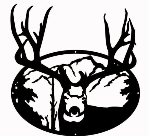 Big Horn Deer Oval