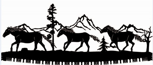 Running Horses Crosscut Saw