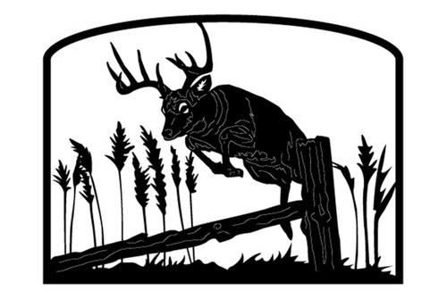 Welcome sign, Deer Jumping Fence