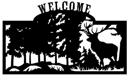 Welcome sign, Deer Standing