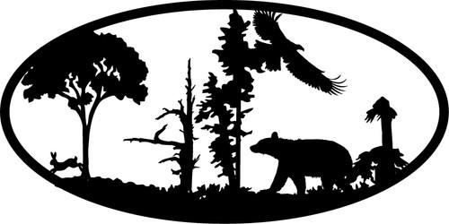Simple Bear with Eagle