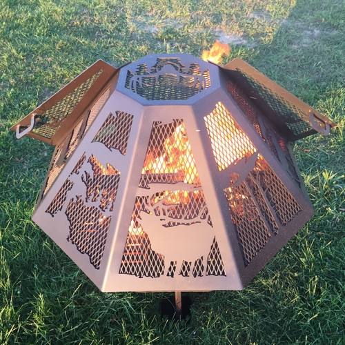 Octagon Fire Pit Spark Screen 44""