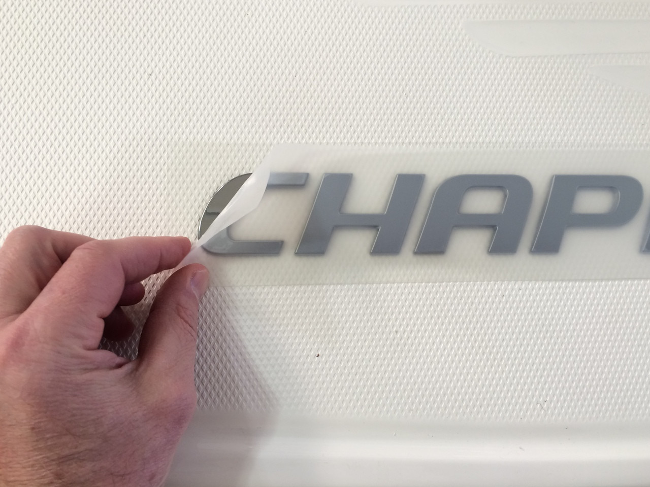 "CHAPARRAL LOGO WITH SMALL BIRD HEAD 30"" X 2"" / 14.00671 *In Stock & Ready To Ship!"