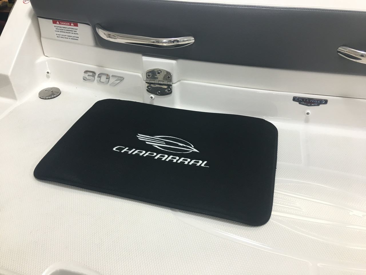 "DELUXE CUSTOM EMBROIDERED CHAPARRAL LOGO FLOOR MAT 28"" X 18"" *In Stock & Ready To Ship!"