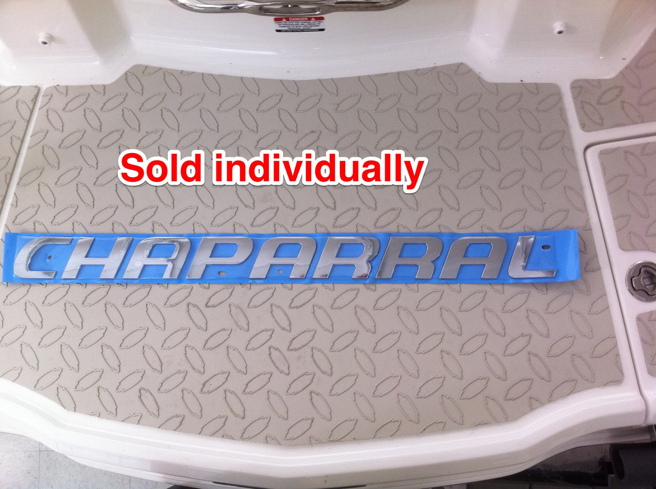 CHAPARRAL LARGE LOGO CHROME INJECTION MOLDED 32 X 2.5 - 14-00146 **In Stock & Ready To Ship!