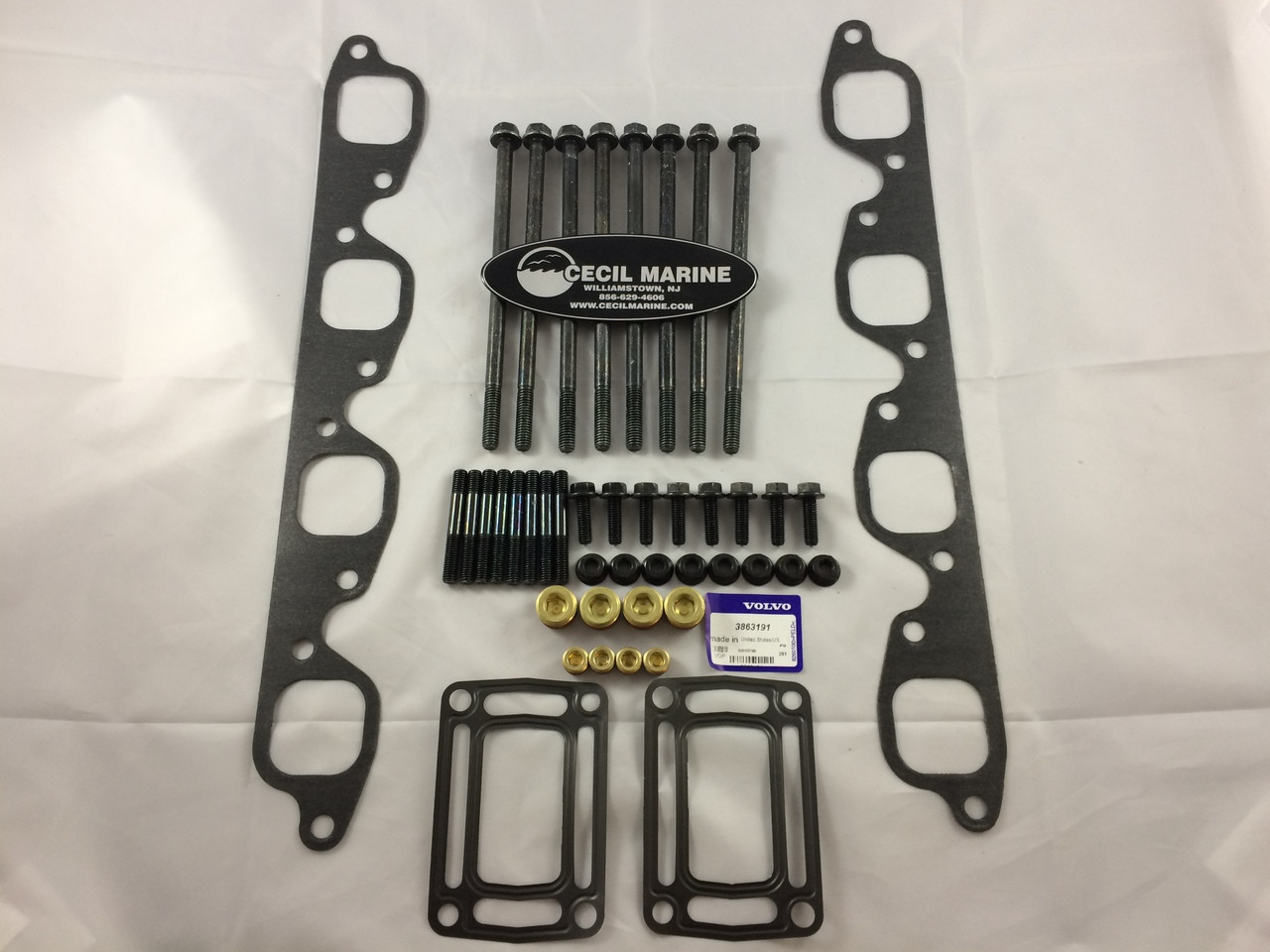 $1872.00 & FREE SHIPPING GENUINE VOLVO PENTA 8.1 MANIFOLD REPLACEMENT KIT - 3847640  * In Stock & Ready To Ship!